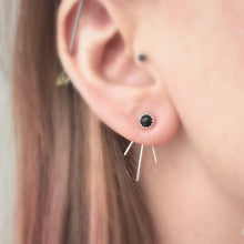 Load image into Gallery viewer, Black Onyx Trident Luxe Ear Jackets / Made to Order