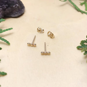 Bubble Bar Studs / Gold Filled / Made to Order