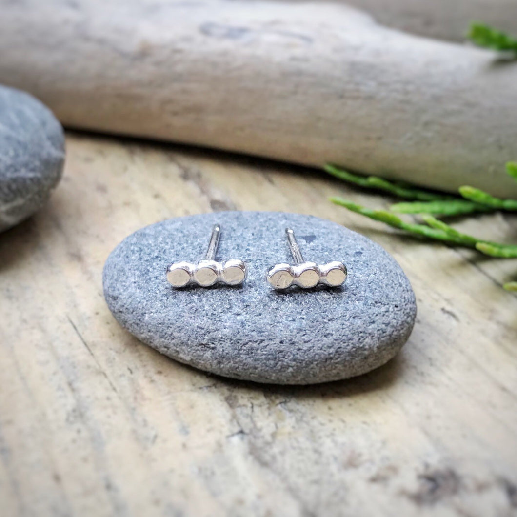 Bubble Bar Studs / Sterling Silver / Made to Order