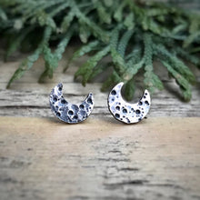 Load image into Gallery viewer, Crescent Moon Studs / Made to Order