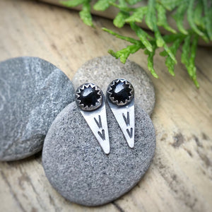 Black Onyx Spike Studs / Made to Order