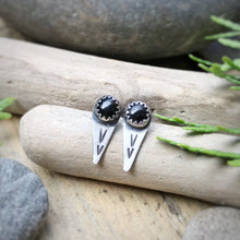 Load image into Gallery viewer, Black Onyx Spike Studs / Made to Order