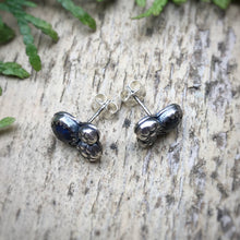 Load image into Gallery viewer, Labradorite Rose Cut Cosmos Studs / Made to Order