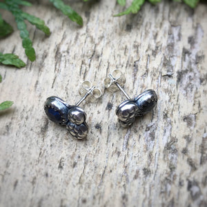 Labradorite Rose Cut Cosmos Studs / Made to Order