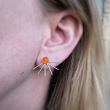 Load image into Gallery viewer, Fan Ear Jackets - Carnelian / Made to Order