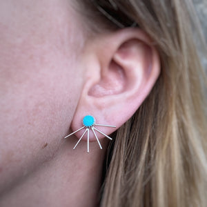 Fan Ear Jackets - Turquoise / Made to Order