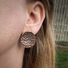 Load image into Gallery viewer, Oversized Hammered Copper Studs / Made to Order