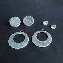 Load image into Gallery viewer, Disc Ear Jacket Set - Silver / Made to Order