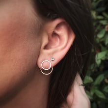 Load image into Gallery viewer, Hammered Circle Ear Jackets / Made to Order
