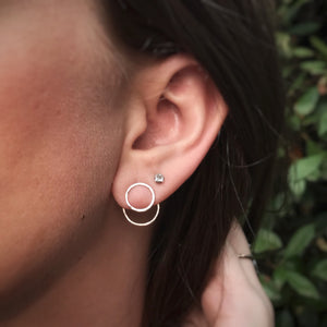 Hammered Circle Ear Jackets / Made to Order