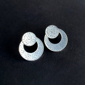 Disc Ear Jacket Set - Silver / Made to Order