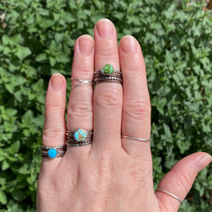 Blue Ridge Turquoise Stacking Ring Set / Size 6.5