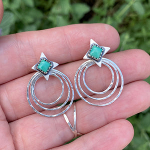 Kingman Turquoise Star Ear Jacket Set