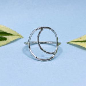 Hollow Moon Ring / Made to Order