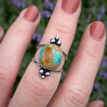 Load image into Gallery viewer, Crow Springs Turquoise Dots Ring / Size 7-7.25