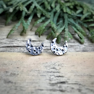 Crescent Moon Studs / Made to Order