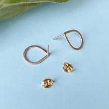 Load image into Gallery viewer, Hammered Teardrop Studs / Gold Filled