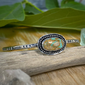 Crow Springs Turquoise Solitaire Cuff