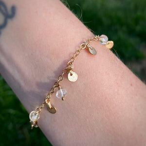Gold Filled & Citrine Bracelet