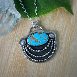 Cloud Mountain Turquoise Statement Necklace / 20""