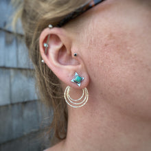 Load image into Gallery viewer, Kingman Turquoise Star Ear Jacket Set