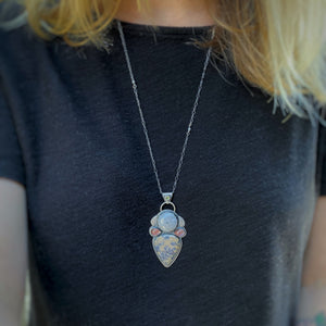 Fairy's Wings Multi-Stone Pendant / 28""