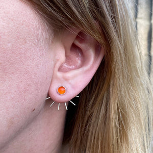 Fan Ear Jackets - Carnelian / Made to Order