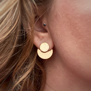 Disc Ear Jacket Set - Brass / Made to Order