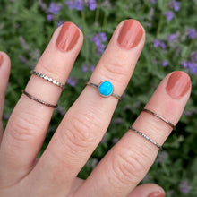 Load image into Gallery viewer, Blue Ridge Turquoise Stacking Ring Set / Size 6.5