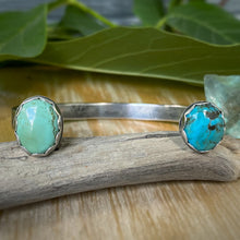 Load image into Gallery viewer, King's Manassa & Tonopah Double Turquoise Cuff