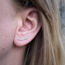 Load image into Gallery viewer, Bubble Ear Climbers / Sterling Silver / Made to Order