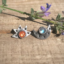 Load image into Gallery viewer, Sun & Moon Studs / Made to Order