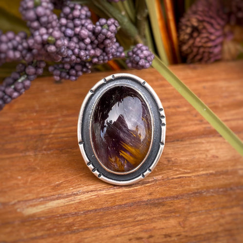 Super Seven Shadowbox Ring / Size 9