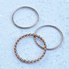 Load image into Gallery viewer, Goldfilled Stacking Ring Set / Size 7