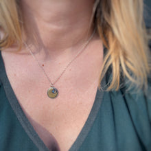 "Load image into Gallery viewer, Mini Moon Necklace - Labradorite / 18"" / Made to Order"