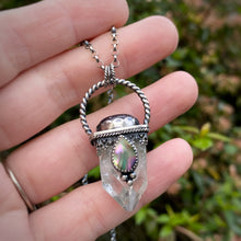 Load image into Gallery viewer, Apophyllite Crystal Point Pendant / 18""