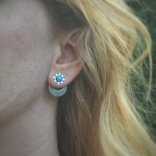 Load image into Gallery viewer, Turquoise Star & Moon Ear Jacket Set