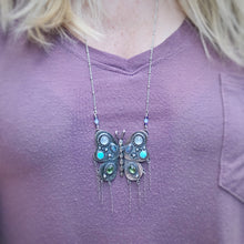 Load image into Gallery viewer, Bejeweled Butterfly Fringe Pendant / 30""