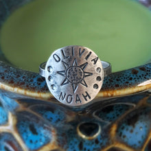 Load image into Gallery viewer, Custom Stamped Circle Ring / Made to Order