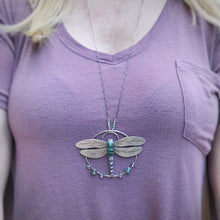 Load image into Gallery viewer, Ellipso Jasper Dragonfly Pendant / 32""