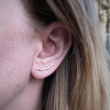 Load image into Gallery viewer, Bubble Ear Climbers / Gold Filled / Made to Order