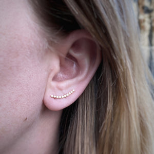 Bubble Ear Climbers / Gold Filled / Made to Order