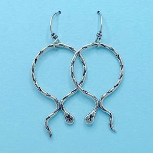Serpentine Hoop Earrings / Made to Order