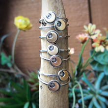 Load image into Gallery viewer, Mixed Metal Mini Moon Ring / Made to Order