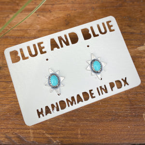 Turquoise Polaris Studs / Made to Order