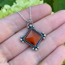 Load image into Gallery viewer, Baltic Amber Pyramid Necklace / 19""