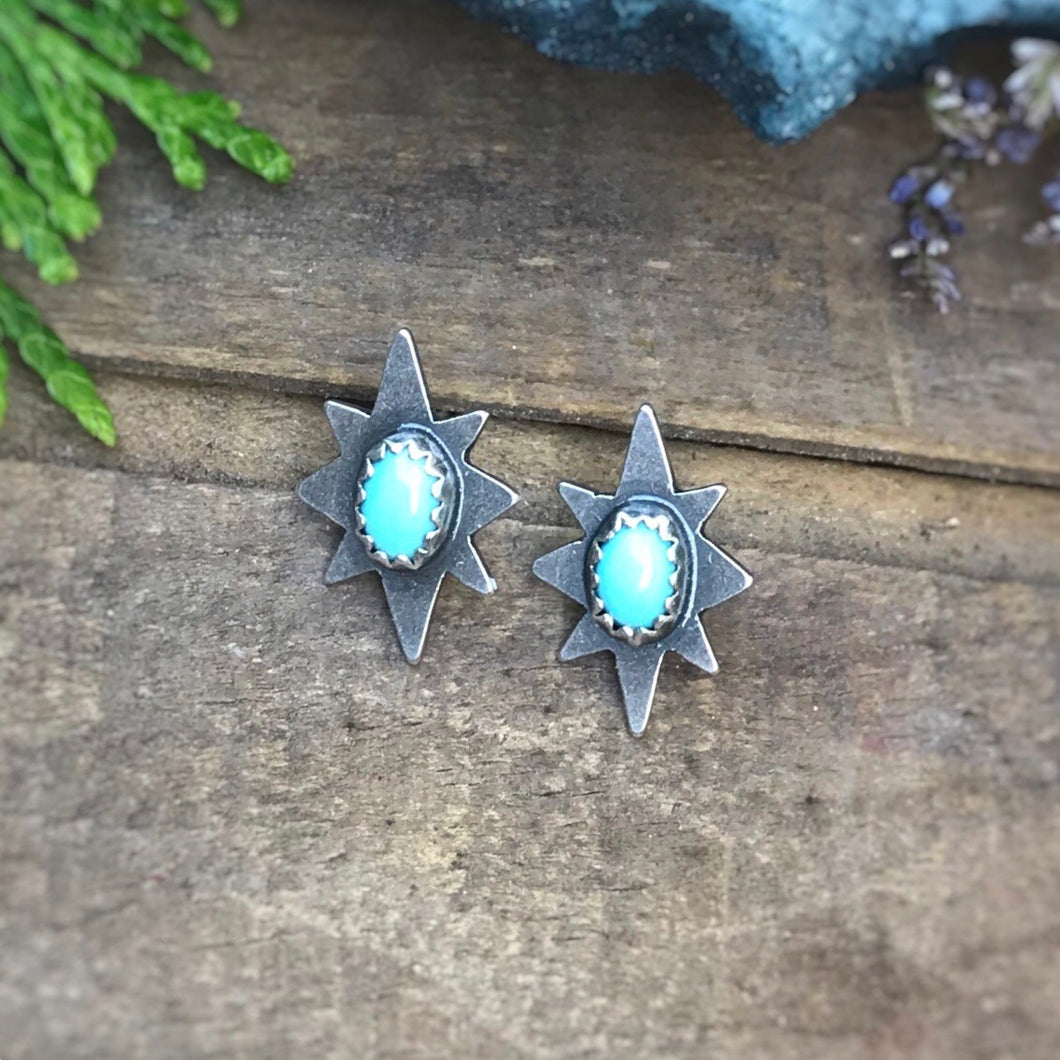 Turquoise North Star Studs
