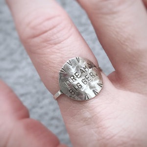 Custom Stamped Circle Ring / Made to Order