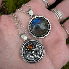 "Load image into Gallery viewer, {No. 1} Labradorite & Baltic Amber Isis Reversible Necklace / 18""-20"""