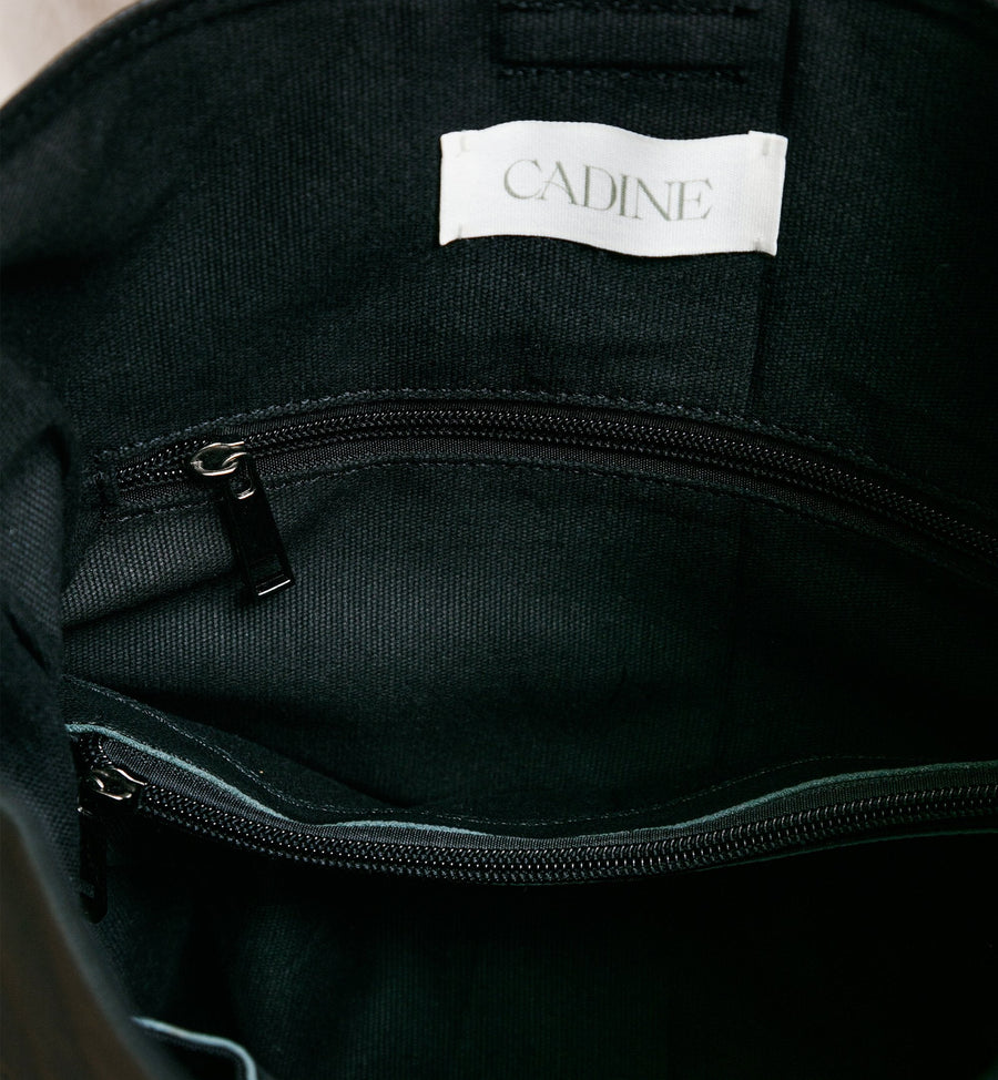 Cadine Convertible black genuine leather bag